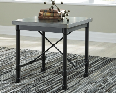 Table Metallic Gray End Product Photo 3536