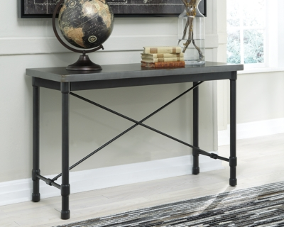 Console Table Metallic Gray Sofa Product Photo 2962