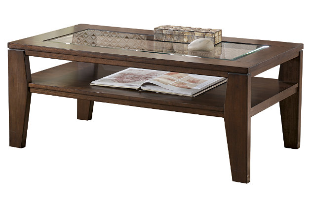 Deagan Coffee Table by Ashley HomeStore, Brown