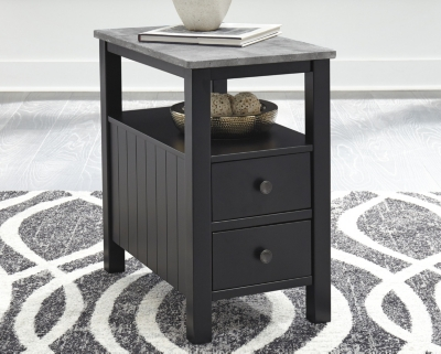 End Table Black Gray Chairside Product Photo 3331