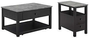 Ezmonei Coffee Table with 1 End Table, , large