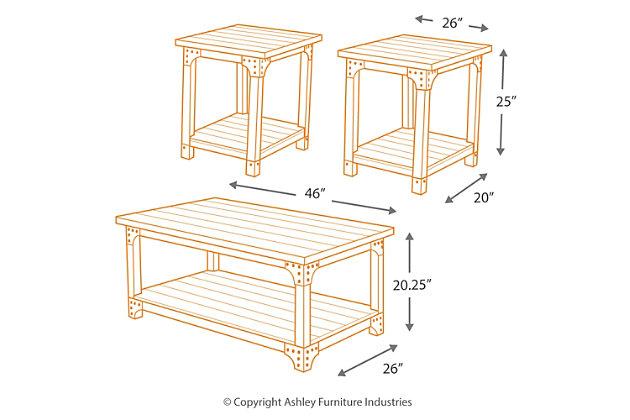 Murphy Table Set Of Ashley Furniture HomeStore - Ashley furniture murphy coffee table set