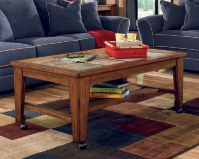 Toscana Coffee Table by Ashley HomeStore, Rustic Brown