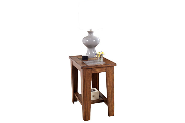 Toscana Chairside End Table by Ashley HomeStore, Brown