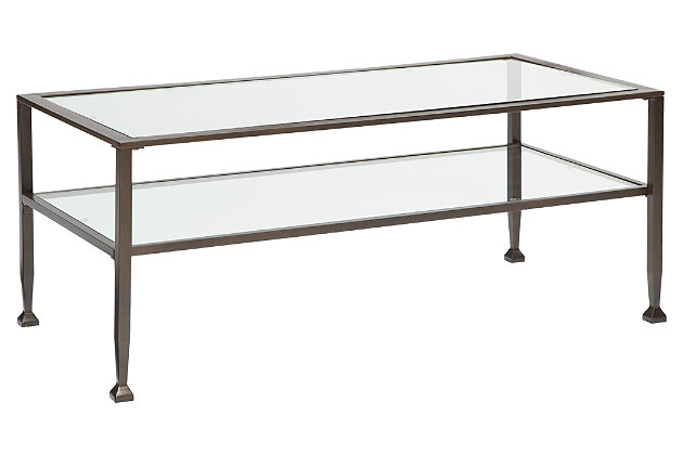 Tivion Coffee Table by Ashley HomeStore, Bronze Finish