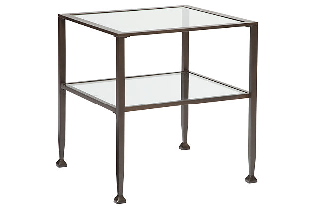 Tivion End Table by Ashley HomeStore, Bronze Finish