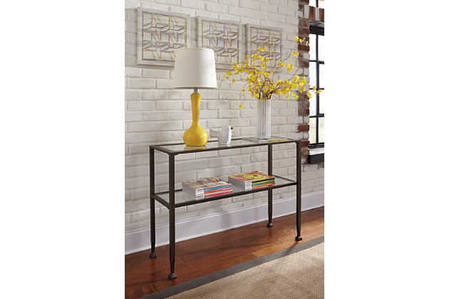 Bronze Finish Tivion Sofa/Console Table by Ashley HomeStore