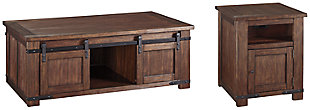 Budmore Coffee Table with 1 End Table, , large