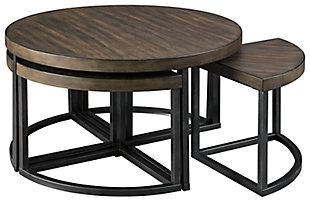Johurst Coffee Table with Stools (Set of 5), , large
