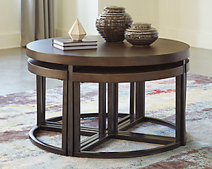 Johurst Coffee Table with Stools (Set of 5), , rollover