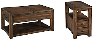 Marleza Coffee Table with 1 End Table, , large