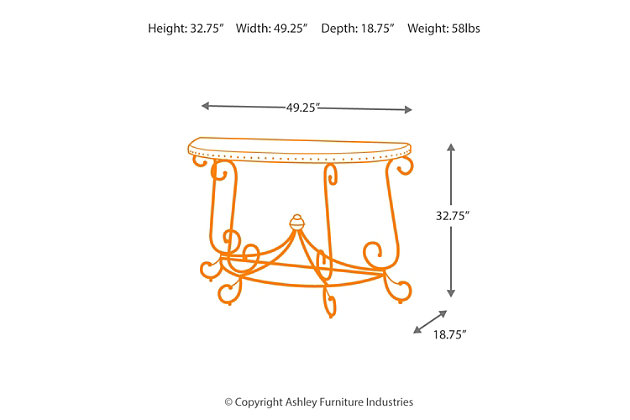 Rafferty Sofa/Console Table by Ashley HomeStore, Brown