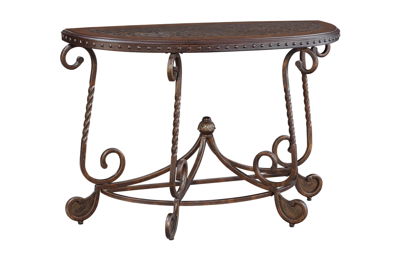 Swell Rafferty Sofa Console Table Ashley Furniture Homestore Best Image Libraries Weasiibadanjobscom