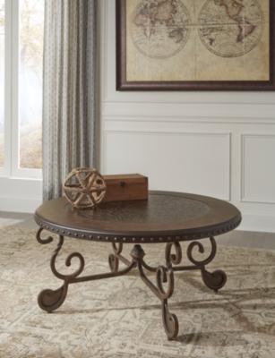 Rafferty Coffee Table by Ashley HomeStore, Dark Brown