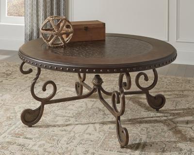 Ashley Rafferty Coffee Table, Dark Brown
