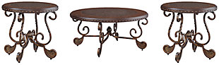 Rafferty Coffee Table with 2 End Tables, , large