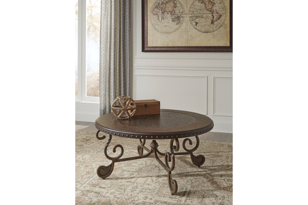 Rafferty Coffee Table by Ashley HomeStore, Brown