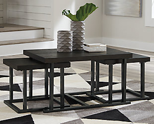 Airdon Coffee Table with Stools (Set of 3), , large