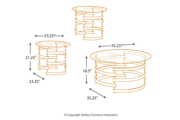 Kaymine Table (Set of 3), , large