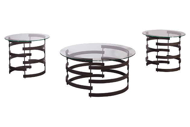 Kaymine Table (Set of 3) by Ashley HomeStore, Black