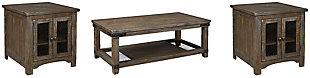 Danell Ridge Coffee Table with 2 End Tables, , large