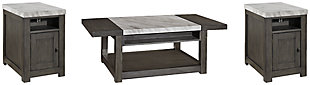 Vineburg Coffee Table with 2 End Tables, , large