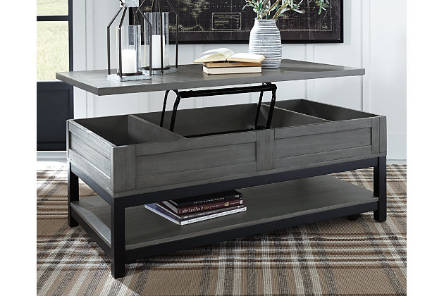 Caitbrook Coffee Table with Lift Top, , large