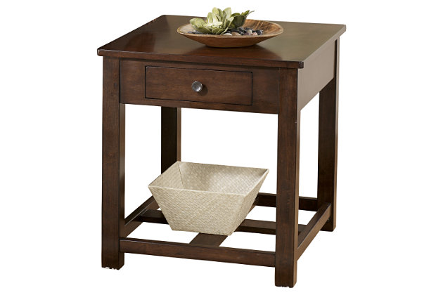Marion End Table by Ashley HomeStore, Brown