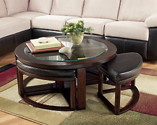 Marion Coffee Table with Nesting Stools, , rollover