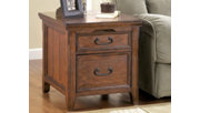 Woodboro Media End Table with Power Outlets, , rollover
