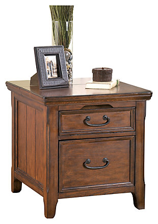 Woodboro Media End Table with Power Outlets, , large