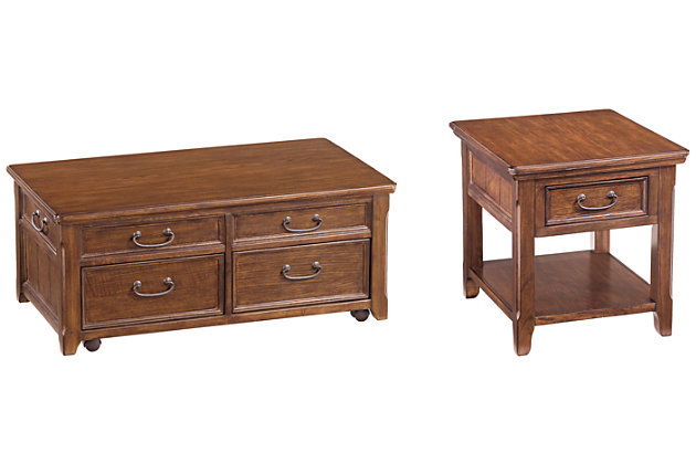Woodboro Coffee Table with 1 End Table, , large