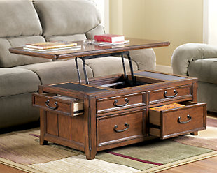 Woodboro Coffee Table with Lift Top, , rollover