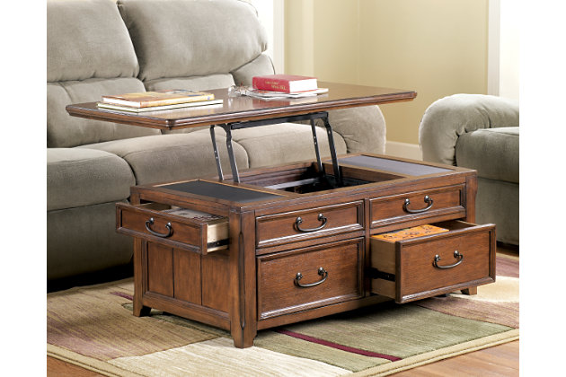 Woodboro Coffee Table With Lift Top Ashley Furniture Home