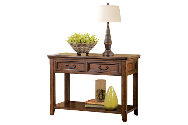 Woodboro Sofa/Console Table by Ashley HomeStore, Brown