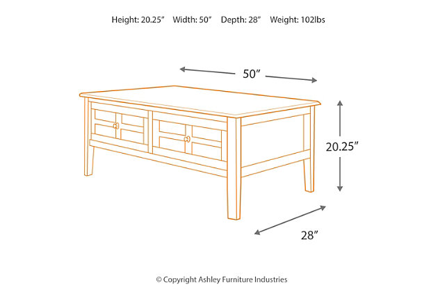 Henning Coffee Table, , large