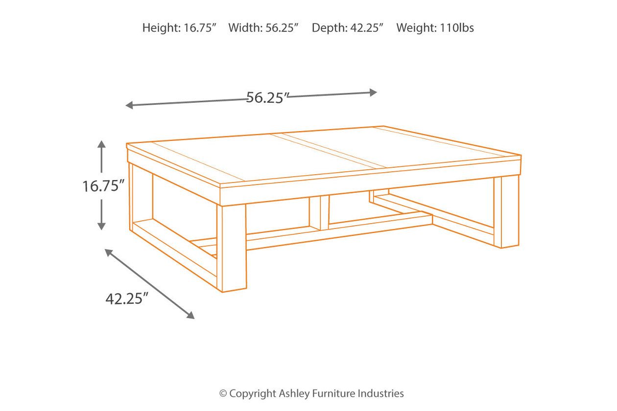 Watson coffee table ashley furniture homestore images watson coffee table geotapseo Choice Image