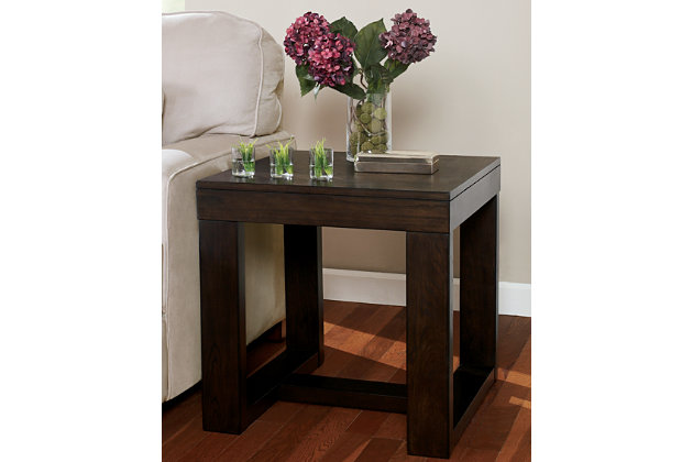 Dark Brown Watson End Table View 7