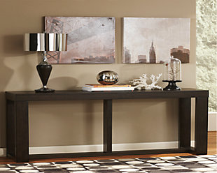 watson sofa console table ashley furniture homestore rh ashleyfurniture com Sofa Table Plans Tall Sofa Table