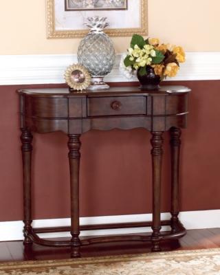 Ashley Brookfield Sofa/Console Table, Dark Brown