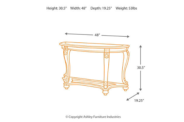 Norcastle Sofa Console Table Ashley Furniture Homestore