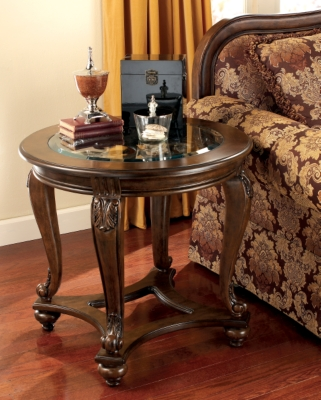 Norcastle End Table by Ashley HomeStore, Dark Brown