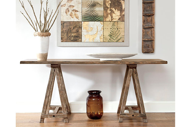 Vennilux Sofa/Console Table by Ashley HomeStore, Light Brown