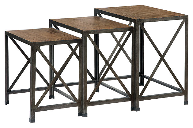 Vennilux End Table (Set of 3) by Ashley HomeStore, Gray & Brown