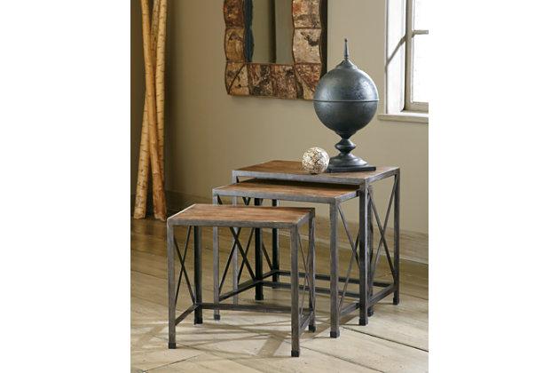 Brown Wood Vennilux End Table