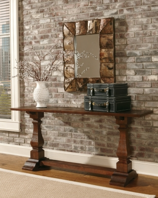 Ashley Vennilux Sofa/Console Table, Dark Brown
