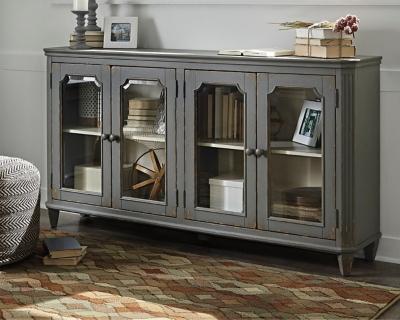 Ashley Mirimyn Accent Cabinet, Antique Gray