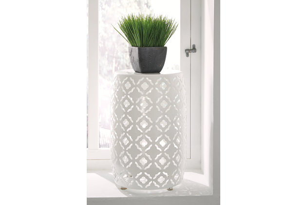 White Marxim End Table by Ashley HomeStore