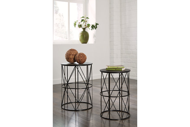 Dark Bronze Finish Marxim End Table (Set of 2) by Ashley HomeStore