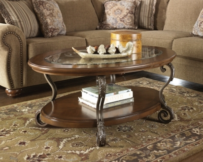 Ashley Nestor Coffee Table, Medium Brown